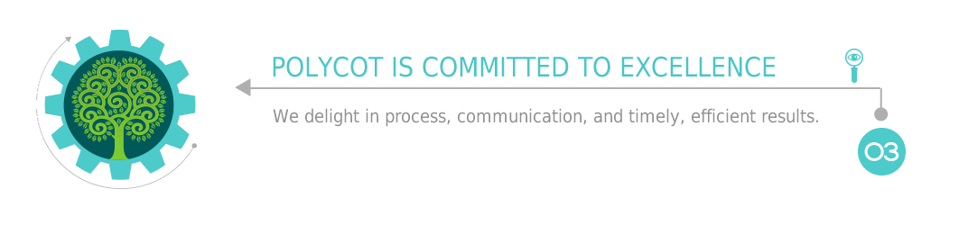 Polycot is Committed to Excellence: We delight in process, communication, and timely, efficient results.